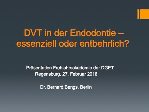 Dentale Volumentomographie in der Endodontie